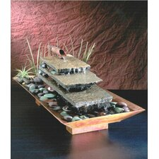 Outdoor Copper Flowing River Tabletop Fountain