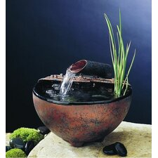 <strong>Nayer Kazemi</strong> Ceramic Nature Bowl Tabletop Fountain