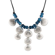 <strong>Élan Jewelry</strong> Sterling Silver Blue Beaded Necklace