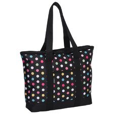 <strong>Everest</strong> Fashionable Polka Dot Shopper Tote Bag