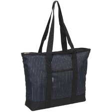 Fashionable Pinstripe Shopper Tote Bag