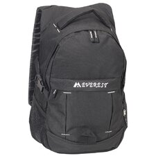 "19"" Sporty Backpack with Side Mesh Pocket in Black"
