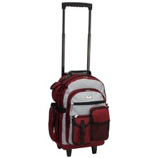 "18.5"" Deluxe Rolling Backpack"