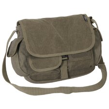 "12"" Cotton Canvas Messenger Bag"