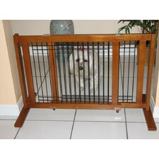 Freestanding Wood and Wire Pet Gate