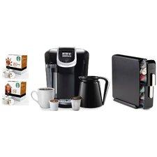 Keurig® 2.0 K350 Brewing System with Countertop Storage Drawer, Starbucks Breakfast Blend K-Cups and Starbucks House Blend K-Cups