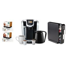 2.0 K450 Brewing System with Countertop Storage Drawer, Starbucks Breakfast Blend K-Cups and Starbucks House Blend K-Cups