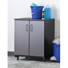 Tuff Stor Two Door Base Unit in Charcoal Grey and Textured Black