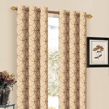 Orleans Embroidered Grommet Curtain Single Panel