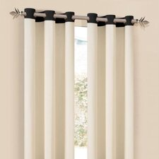 Grommet Oxford Window Curtain Single Panel