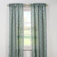 Kerr Linen Rod Pocket Sheer Curtain Panel (Set of 2)