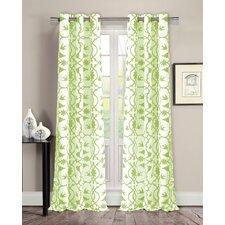 Dawn Victoria Linen Look Grommet Curtain Panels (Set of 2)