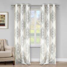 Bellissimo Faux Silk Grommet Curtain Panels (Set of 2)