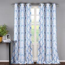 Newburgh Linen Look Grommet Curtain Panel (Set of 2)