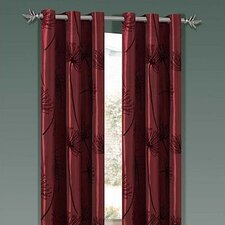 Soleil Taffeta Flock Grommet Curtain Single Panel