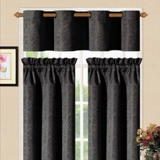 "Sensations Metal Kitchen 36"" Valance and Tier Set"