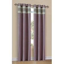 Dublin Square Faux Silk Grommet Curtain Single Panel