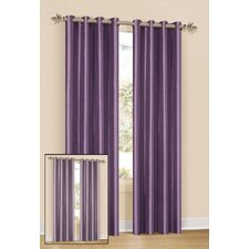 Silk Grommet Axis Curtain Single Panel