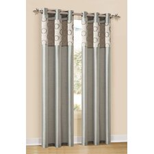 Lorena Silk Grommet Curtain Single Panel