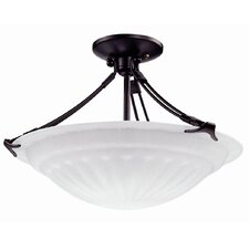 Contempra 3 Light Bowl Semi Flush Mount