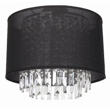 Piccadilly 3 Light Round Flush Mount