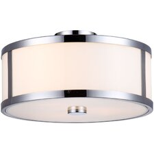 Uptown 3 Light Semi Flush Mount
