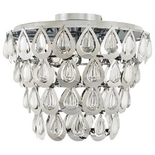 Bliss 3 Light Semi Flush Mount