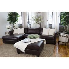 Urban Top Grain Leather Left Arm Facing Sectional