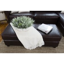 Urban Top Grain Leather Rectangle Cocktail Ottoman