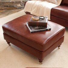 <strong>Elements Fine Home Furnishings</strong> Cambridge Leather Cocktail Ottoman