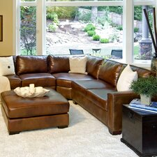 <strong>Elements Fine Home Furnishings</strong> Carlyle Leather Sectional
