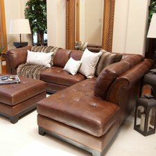 <strong>Elements Fine Home Furnishings</strong> Corsario Leather Sectional