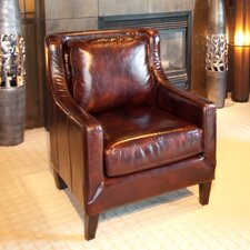 <strong>Elements Fine Home Furnishings</strong> Java Top Grain Leather Chair