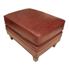 Manchester Leather Ottoman