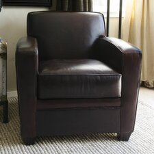 <strong>Elements Fine Home Furnishings</strong> Dexter Top Grain Leather Standard Chair