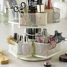 <strong>Nifty Home Products</strong> Cosmetic Organizing Carousel in Powder Coated Cream