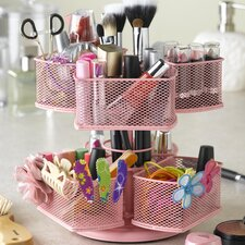 <strong>Nifty Home Products</strong> Cosmetic Organizing Carousel in Powder Coated Pink