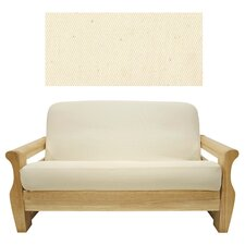 <strong>Easy Fit</strong> Solid Natural 5 Piece Full Futon Cover Set