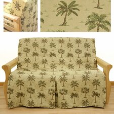 Desert Palm 5 Piece Full Skirted Futon Cover Set