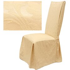 <strong>Easy Fit</strong> Damask Dining Chair Slipcover