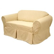 Damask Loveseat Slipcover