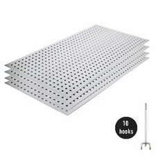 Metal Pegboard Panel Kit without Flange