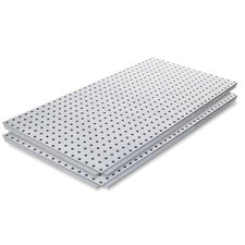 <strong>Alligator Board</strong> Galvanized Steel Pegboard Panel with Flange