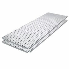 Metal Pegboard Panel with Flange