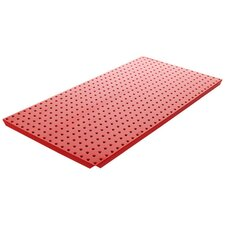 <strong>Alligator Board</strong> Powder Coated Metal Pegboard Panels with Flange in Red