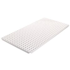 Powder Coated Metal Pegboard Panels with Flange in White