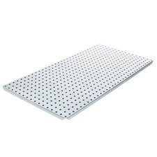 Powder Coated Metal Pegboard Panels with Flange in Silver