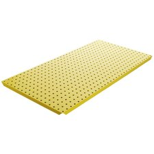 Powder Coated Metal Pegboard Panels with Flange in Yellow