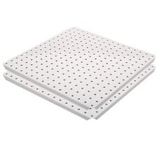 Metal Pegboard Panels with Flange in White