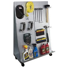 """A"" Frame Metal Pegboard WOW Tool Cart with Wheels"